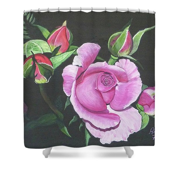 Will's Rose Shower Curtain