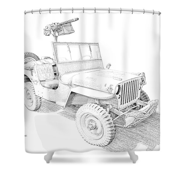 Willy In Ink Shower Curtain