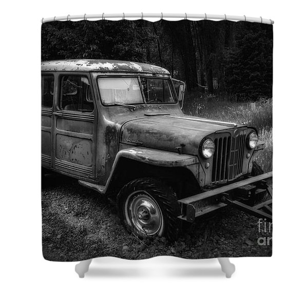 Willys Jeep Station Wagon Shower Curtain