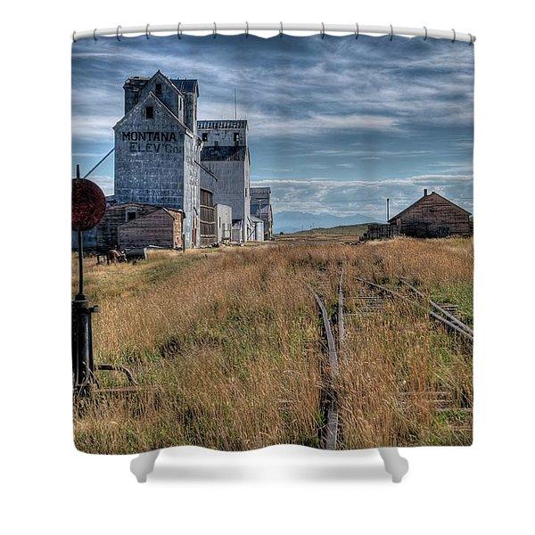 Wilsall Grain Elevators Shower Curtain
