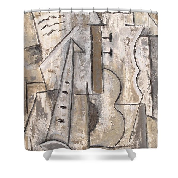 Wind And Strings Shower Curtain