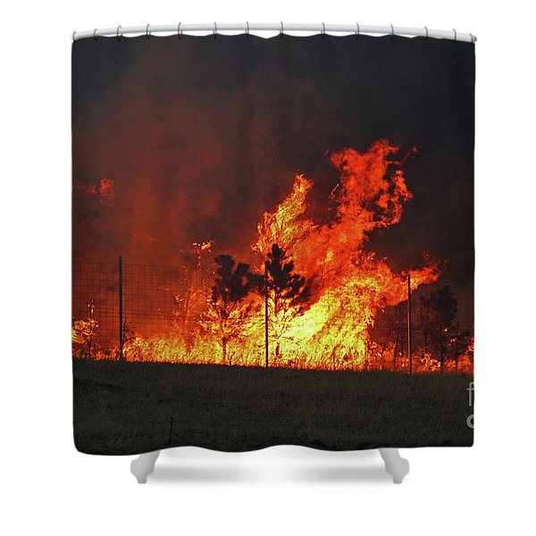 Wildfire Flames Shower Curtain