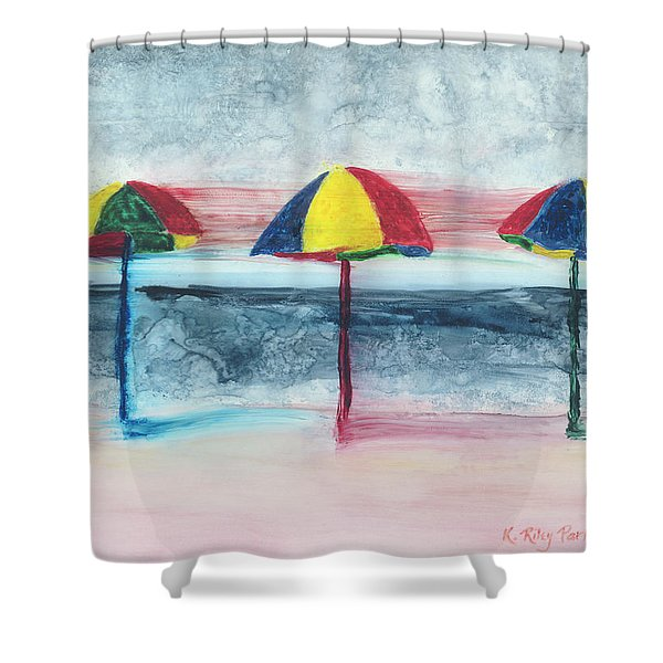 Shower Curtain featuring the painting Wind Ensemble by Kathryn Riley Parker