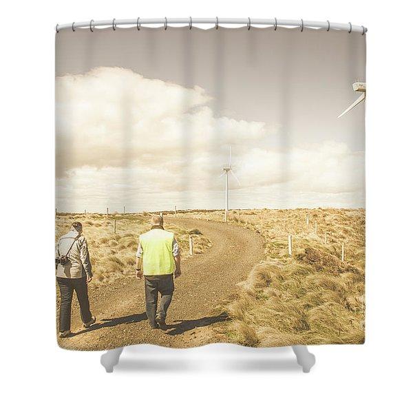 Wind Power Travel Tour Shower Curtain