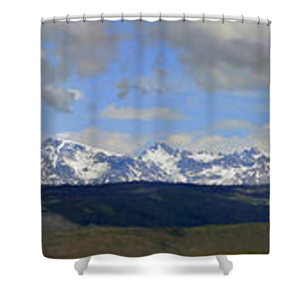 Dm9504-wind River Range Panorama  Shower Curtain