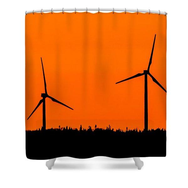 Wind Silhouette Shower Curtain