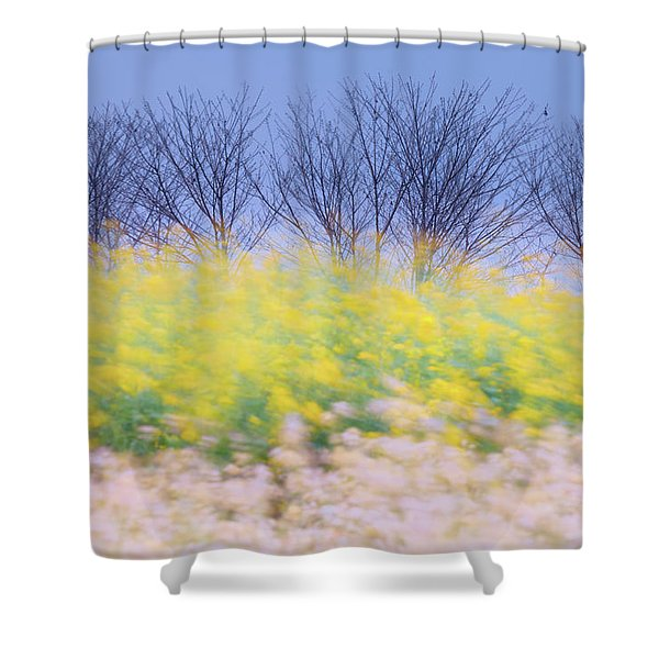Wind Strokes Shower Curtain
