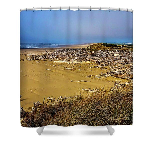 Wind Swept Beach Shower Curtain