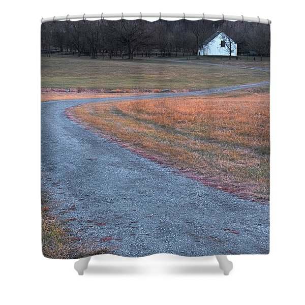 Shower Curtain featuring the photograph Winding Road by Tom Singleton