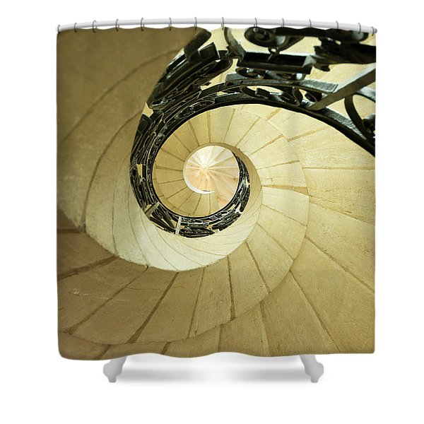 Winding Staircase. France. Europe. Shower Curtain