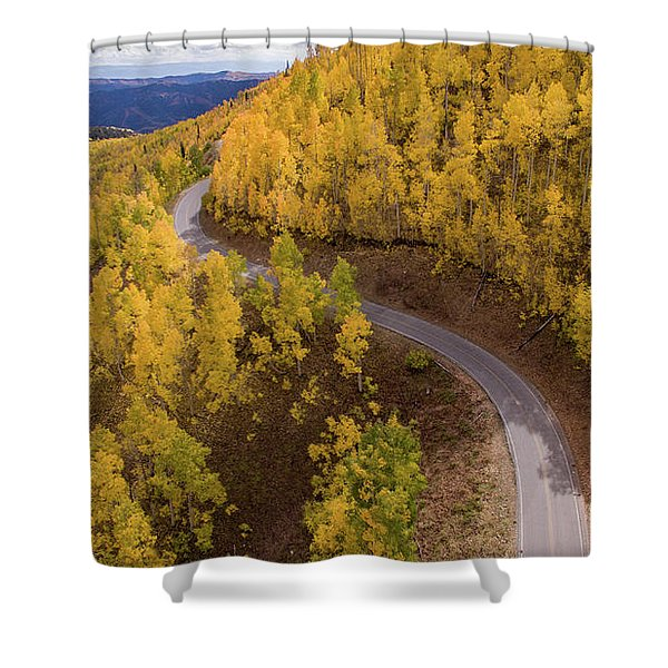 Winding Through Fall Shower Curtain