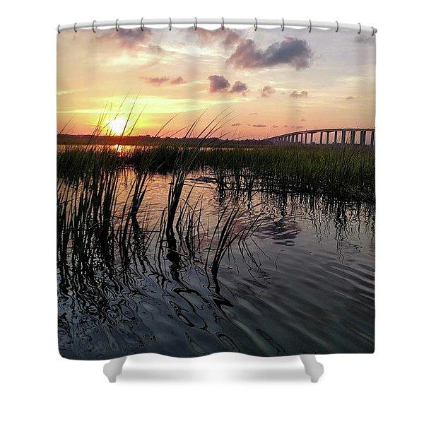 Winding Wando Shower Curtain