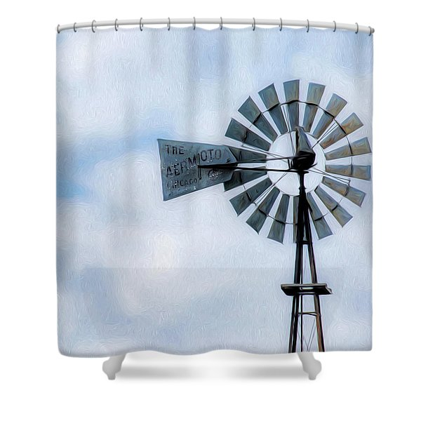 Shower Curtain featuring the photograph Windmill Art -010 by Rob Graham