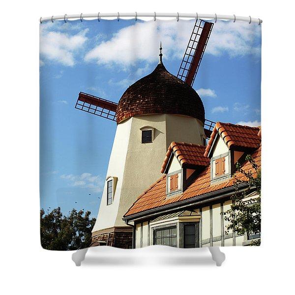 Windmill At Solvang, California Shower Curtain