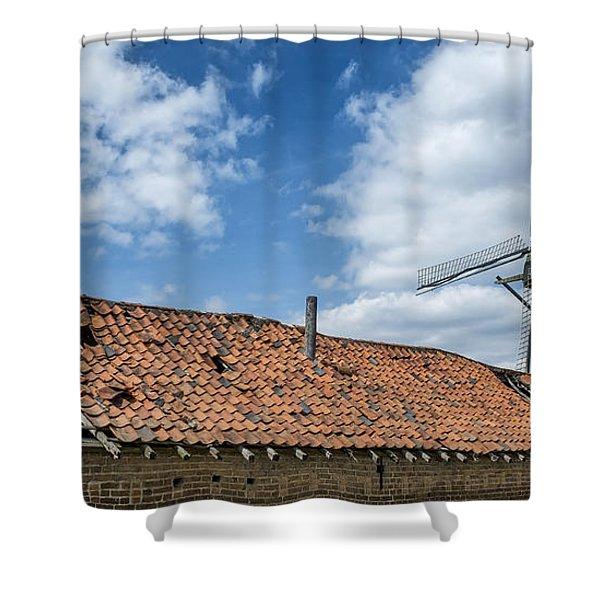 Windmill In Belgium Shower Curtain