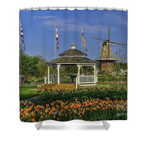 Windmill Island Gardens  Shower Curtain