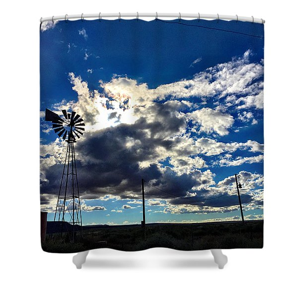 Windmill Lonely Shower Curtain