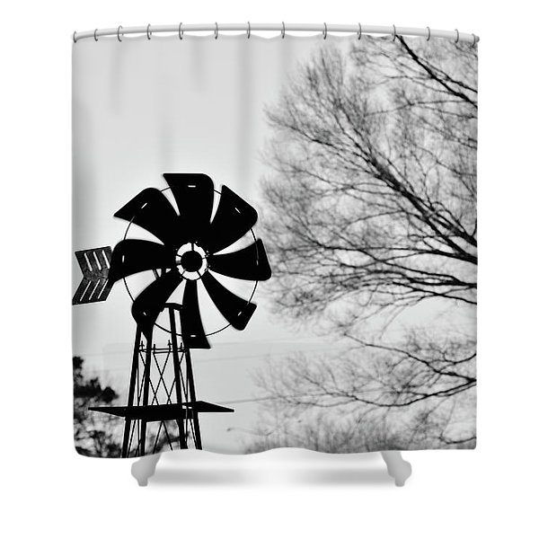 Windmill On The Farm Shower Curtain