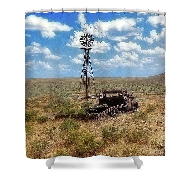 Windmill Over Lenzen Shower Curtain