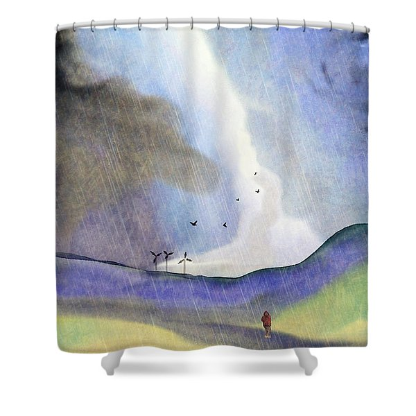 Windmills Of The Mind Shower Curtain