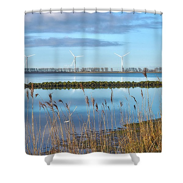 Windmills On A Windless Morning Shower Curtain
