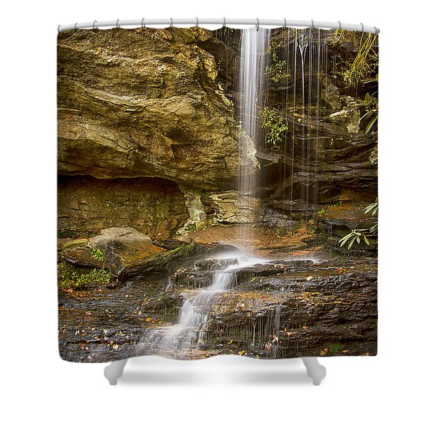 Window Falls In Hanging Rock State Park Shower Curtain