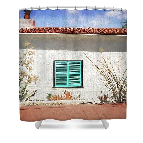 Window In Oracle Shower Curtain