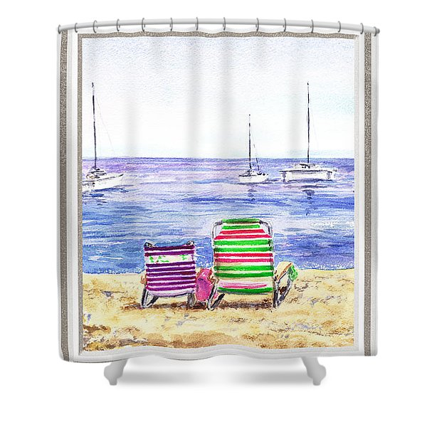 Window Of The Beach House Shower Curtain