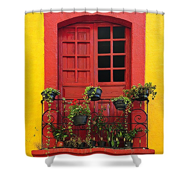 Window On Mexican House Shower Curtain