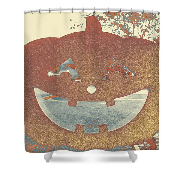 Window Pumpkin #1 Shower Curtain