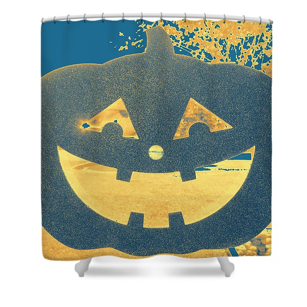 Window Pumpkin #2 Shower Curtain