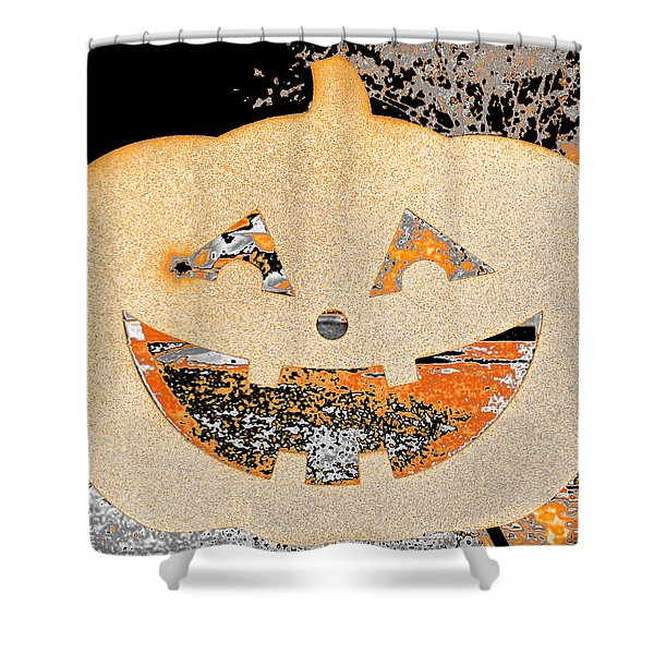 Window Pumpkin #3 Shower Curtain