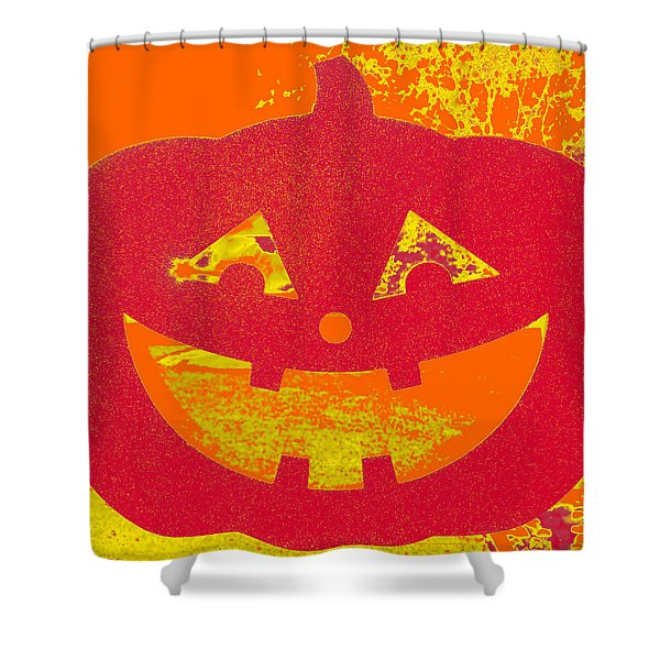 Window Pumpkin #4 Shower Curtain