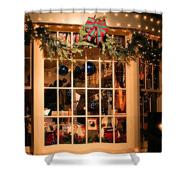 Window Shopping Shower Curtain