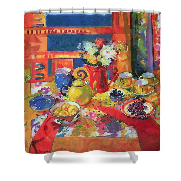 Window To Cannes Shower Curtain