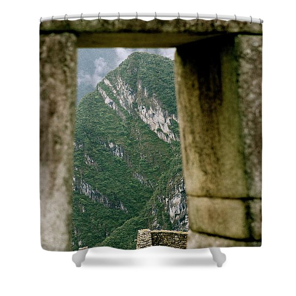 Window To The Gifts Of The Pachamama Shower Curtain