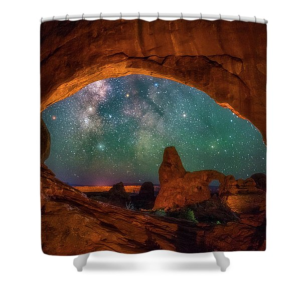 Window To The Heavens Shower Curtain