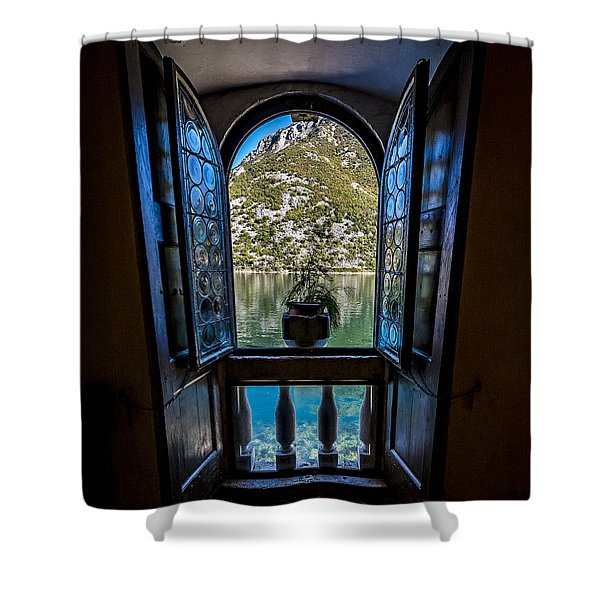 Window To The Lake Shower Curtain