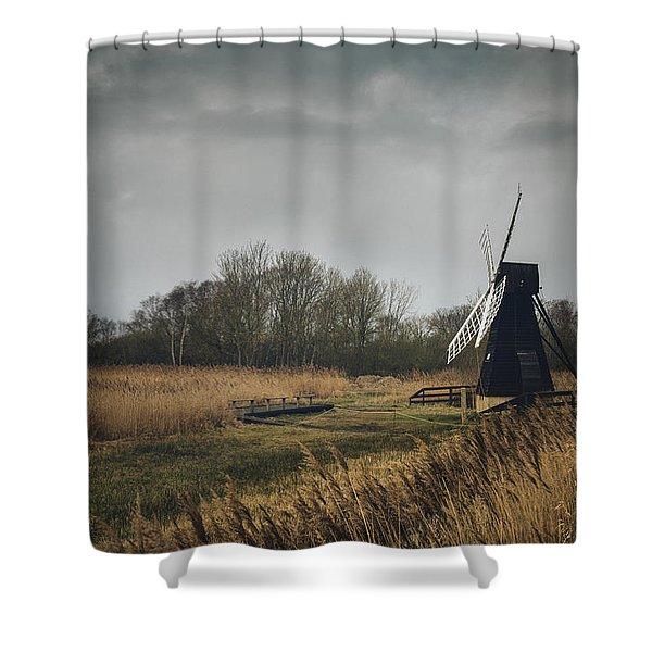 Windpump Shower Curtain