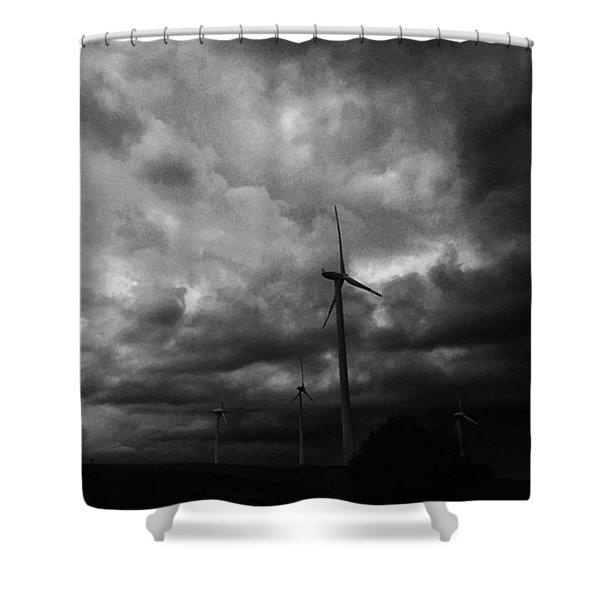 Windradwindig.  #windrad #monochrome Shower Curtain