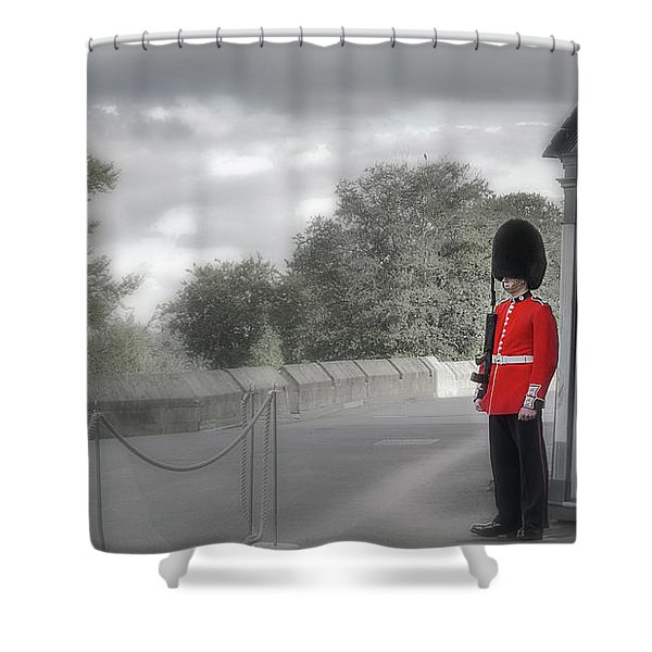 Windsor Castle Guard Shower Curtain