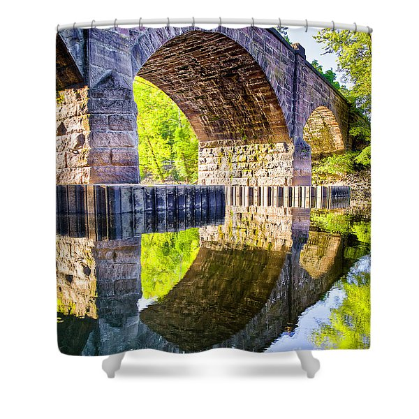 Windsor Rail Bridge Shower Curtain