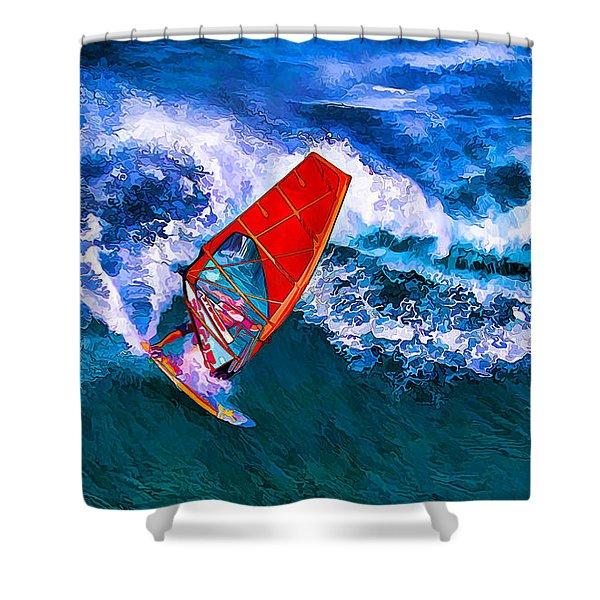 Windsurfer Joy Shower Curtain