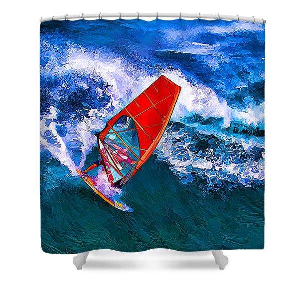 Windsurfer 1 Shower Curtain