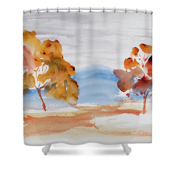 Windy Autumn Colours  Shower Curtain