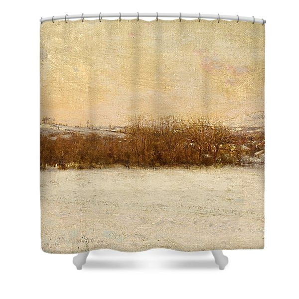 Windy Day After A Snowstorm Shower Curtain
