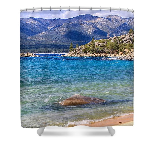 Windy Day At Lake Tahoe Shower Curtain