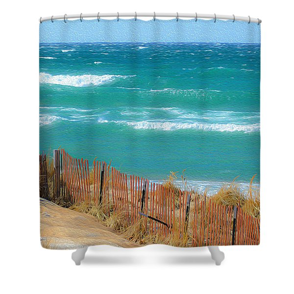 Windy Day On Lake Michigan Shower Curtain