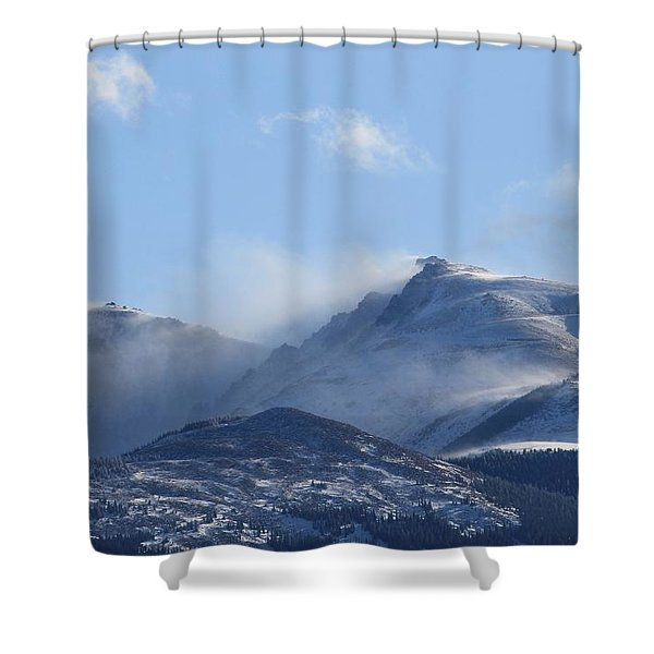 Windy Pikes Peak  Shower Curtain