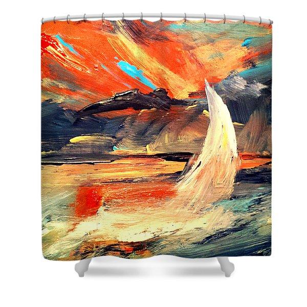 Windy Sail Shower Curtain